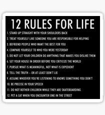 12 Regeln für das Leben jordan peterson (dunkle Version) Sticker