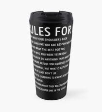 12 rules for life jordan peterson (dark version) Travel Mug