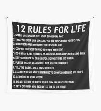 12 rules for life jordan peterson (dark version) Wall Tapestry