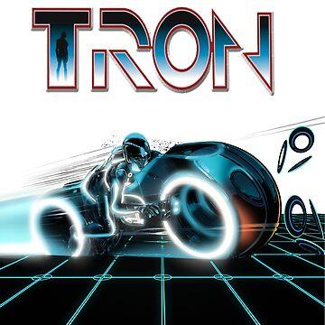 Tron Movie 80s by retropopdisco