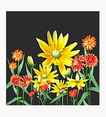 Bright At Midnight Floral Photographic Print