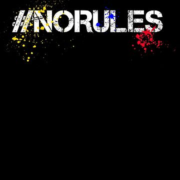 No Rules - Splash of colors by RecycleBros