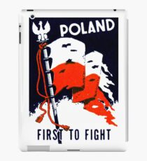 WWII Poland, First to Fight iPad Case/Skin