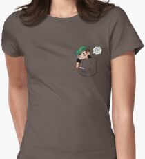 pocket anti Women's Fitted T-Shirt