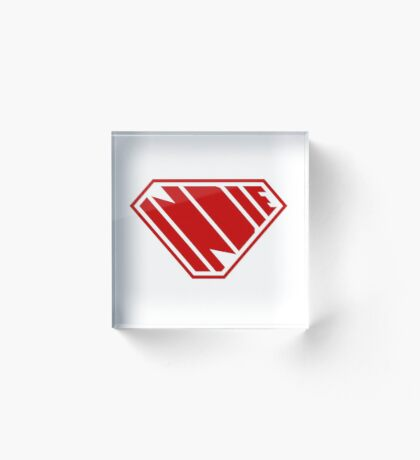 Indie SuperEmpowered (Red) Acrylic Block