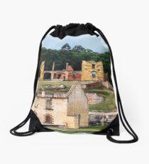 Tasmanian History Drawstring Bag