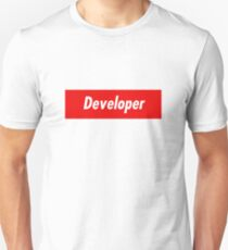 Developer Coder Programmer Styled Sticker and other items! Unisex T-Shirt