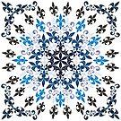 roue de lys (version bleu en blanc) by HoremWeb