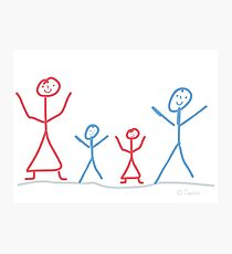 Family with children Photographic Print