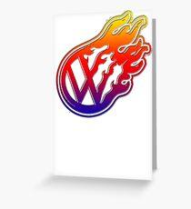 VW Flame Logo Greeting Card