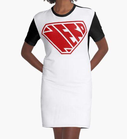 Nerd SuperEmpowered (Red) Graphic T-Shirt Dress