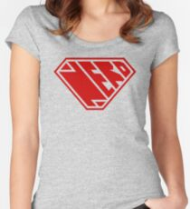 Nerd SuperEmpowered (Red) Fitted Scoop T-Shirt