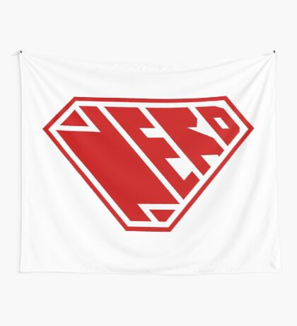 Nerd SuperEmpowered (Red) Wall Tapestry