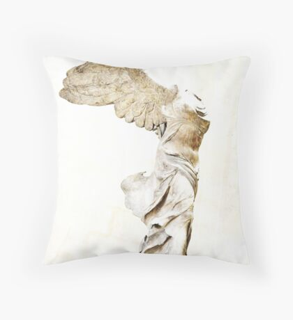 Winged Victory of Samothrace Throw Pillow