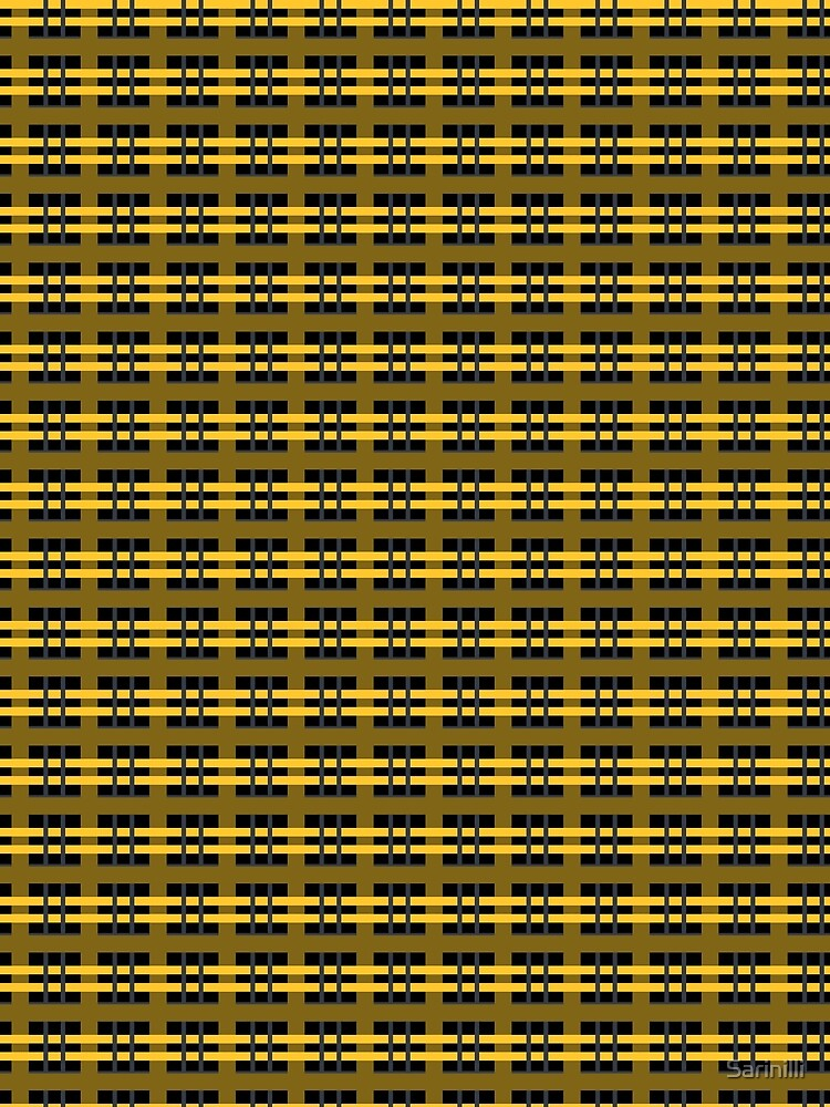 Yellow and Black Plaid by Sarinilli