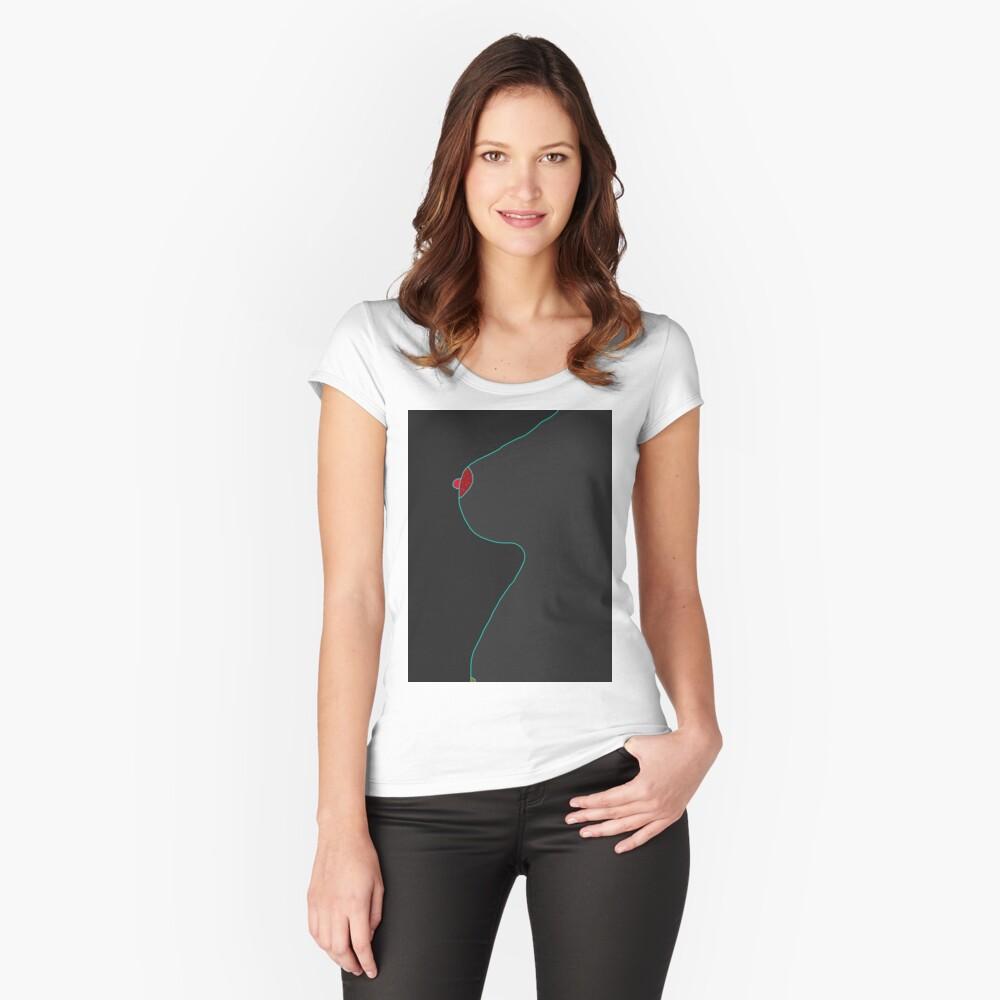 galaktisch Tailliertes Rundhals-Shirt