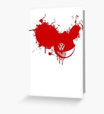 VW Bleeding Greeting Card