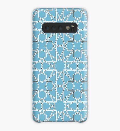Islamic Geometric pattern 002 Blue Background Case/Skin for Samsung Galaxy