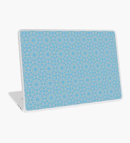 Islamic Geometric pattern 002 Blue Background Laptop Skin