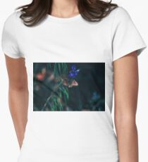 Wildflower friend on the Hat Creek Rim trail section of PCT Women's Fitted T-Shirt