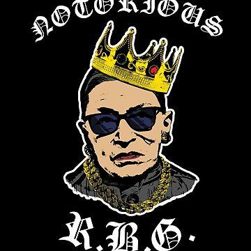 Notorious RBG Tshirt Funny Ruth Bader Ginsburg T Shirt by Clort