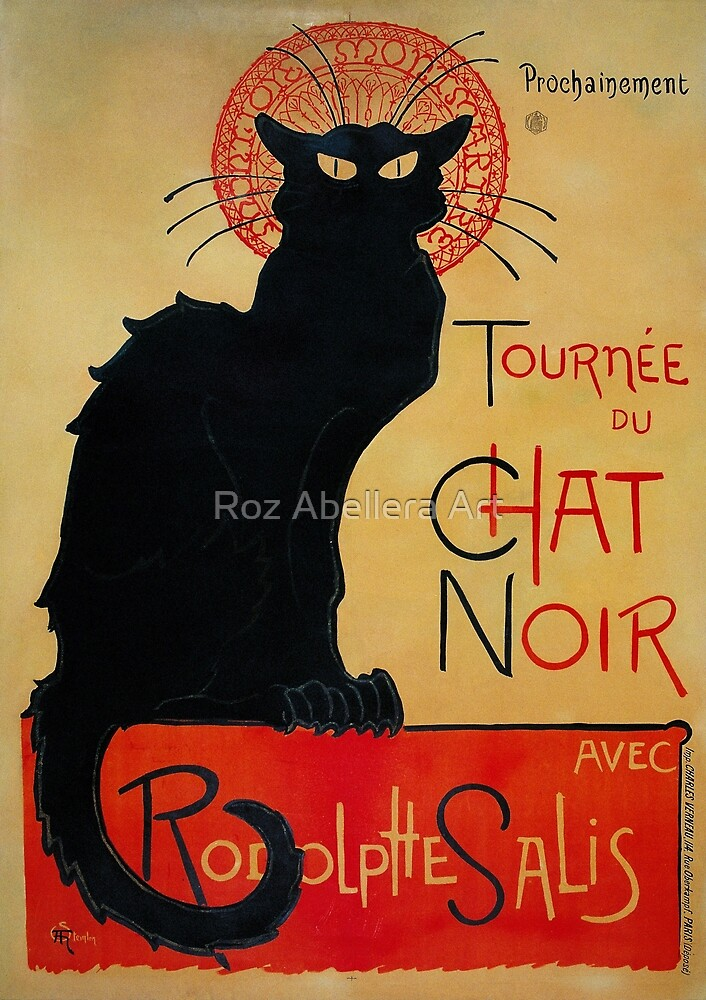 'Tournee du Chat Noir' by Theophile Steinlen (Reproduction) by Roz Abellera