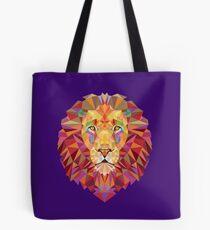 Geometric Lion Tote Bag