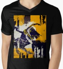 Abstract Dance Painting  Men's V-Neck T-Shirt