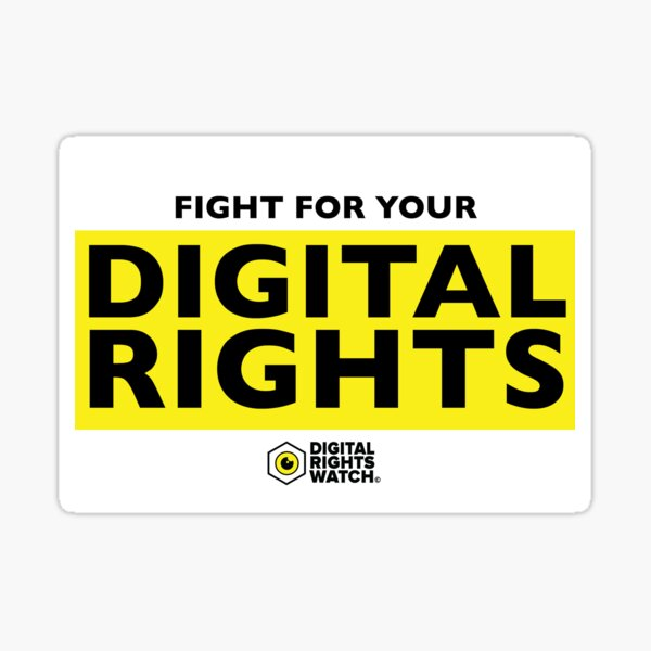 Fight for your digital rights! Sticker