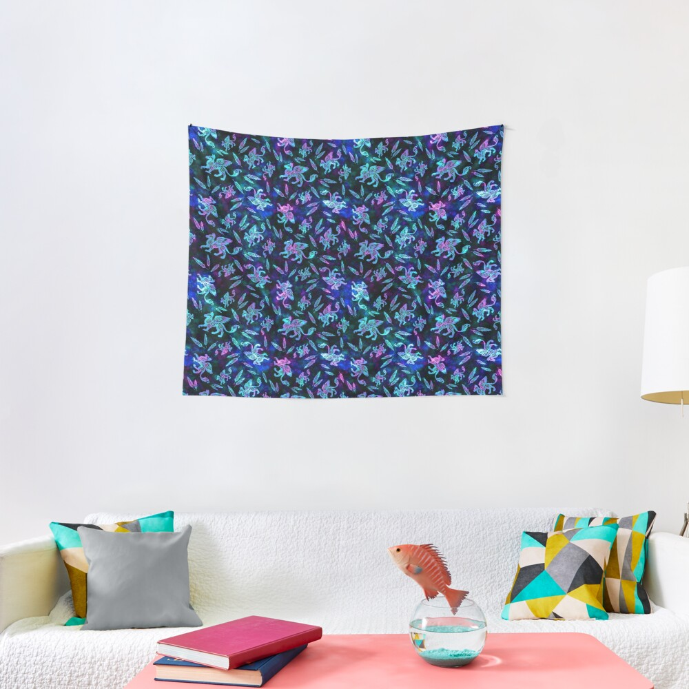 Gryphon Batik - Jewel Tones Tapestry