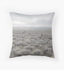 Sagebrush Sea , Oregon , United States of America   Throw Pillow