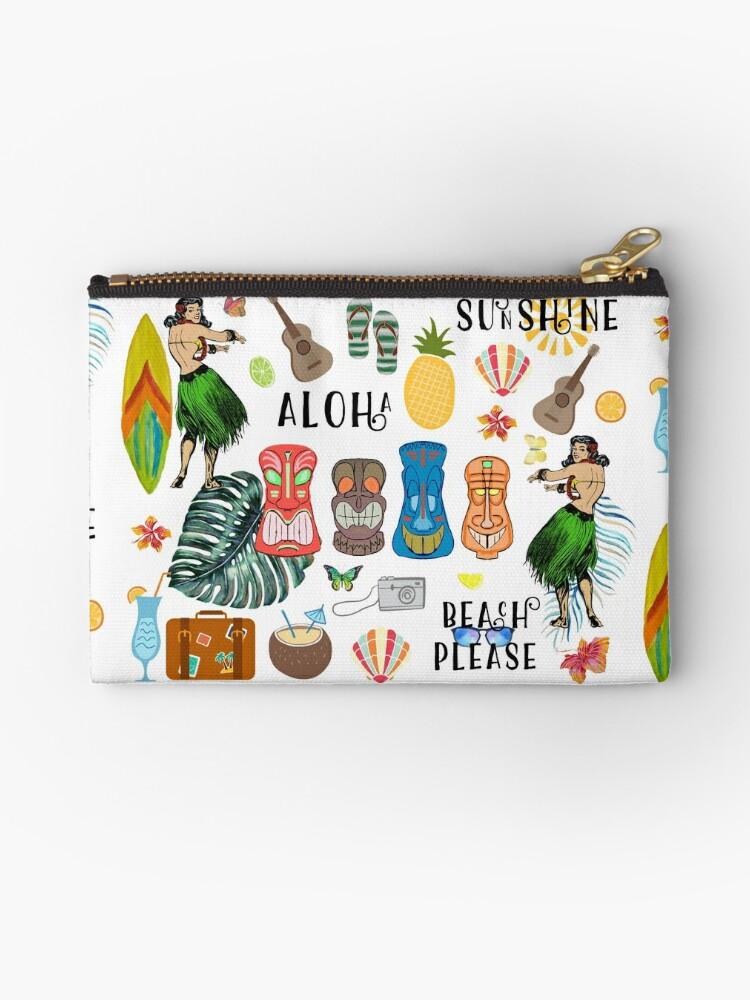 Retro Hawaiian Tiki Pattern by Laura-Lise Wong