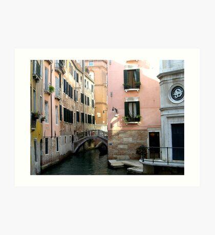 small bridge in Venice Art Print