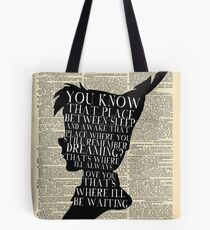 Peter Pan Vintage Dictionary Page Style -- That Place Tote Bag
