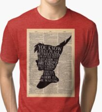 Peter Pan Vintage Dictionary Page Style -- That Place Tri-blend T-Shirt