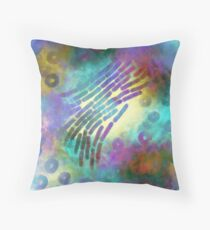 In the beginning there were microbes  Throw Pillow