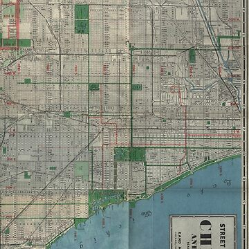Chicago Vintage Map by pckup