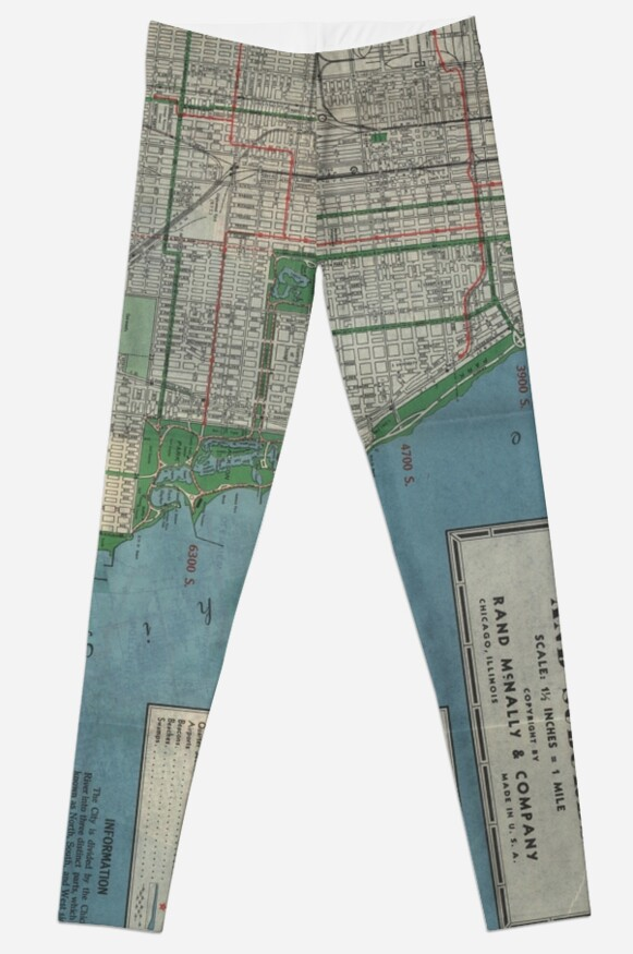 Chicago Vintage Map by Lead Belly