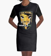 Foxhound Crest Graphic T-Shirt Dress