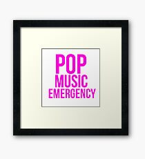POP MUSIC EMERGENCY Framed Print
