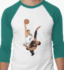 Jayson Tatum Dunks On LeBron Men's Baseball ¾ T-Shirt