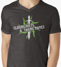 Closing Rifts & Taking Names Men's V-Neck T-Shirt
