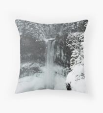 winter, Brandywine Falls , British Columbia Throw Pillow