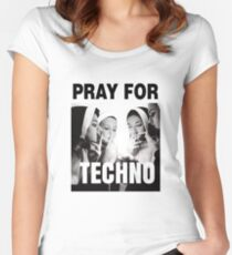 Ora por Techno Camiseta entallada de cuello redondo