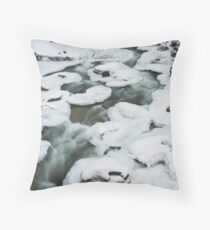pancake ice , near Whistler , British Columbia Throw Pillow