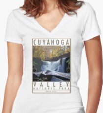 Cuyahoga Valley National  Park Women's Fitted V-Neck T-Shirt