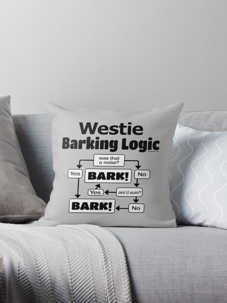 Image result for westie bark pillow