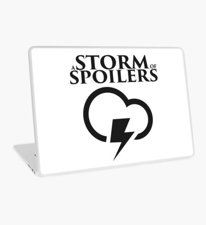 A Storm of Spoilers Logo Laptop Skin