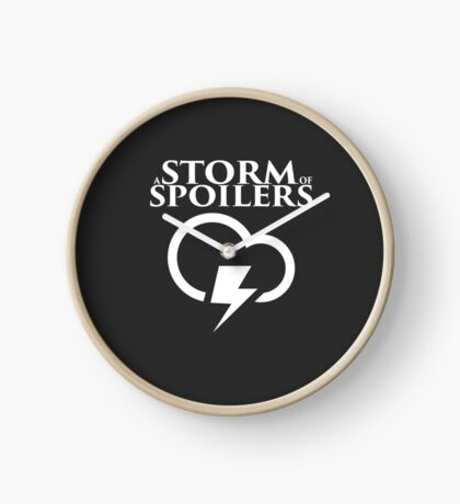 A Storm of Spoilers Logo Clock