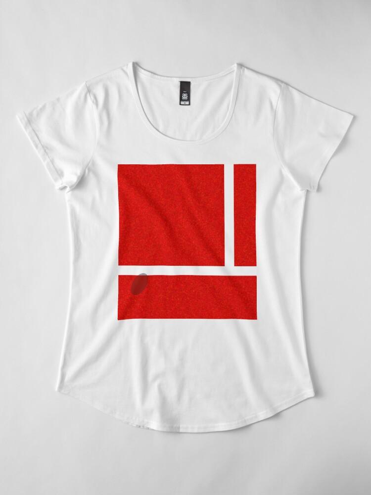 """Alternative Ansicht von """"IN"""" - Falkenauge - Sand Premium Rundhals-Shirt"""